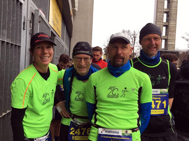 Corina, Dirk, Karsten und Wolfgang vor dem Start