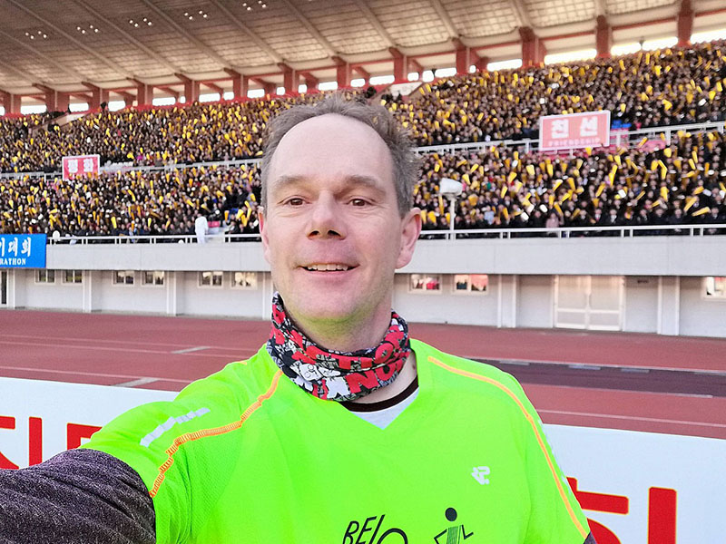 Volles Haus beim Halbmarathon in Pjöngjang