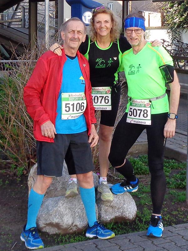 Alfred, Ute und Dirk vor dem Start auf die 10 Kilometer