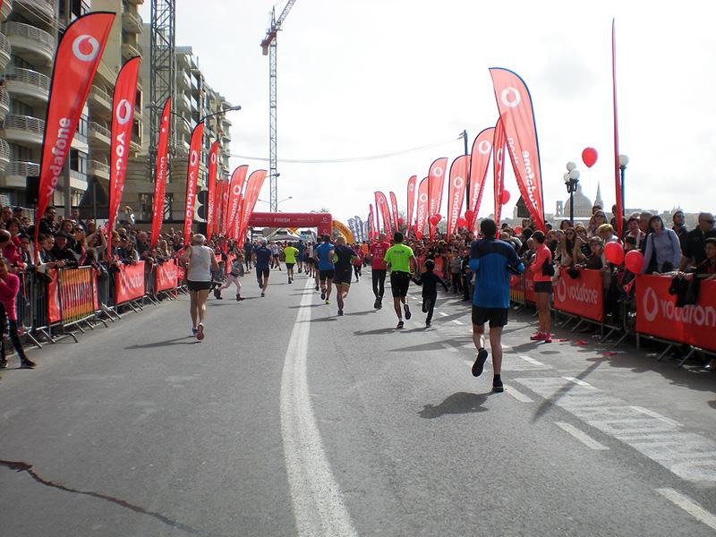 Läufer auf Malta