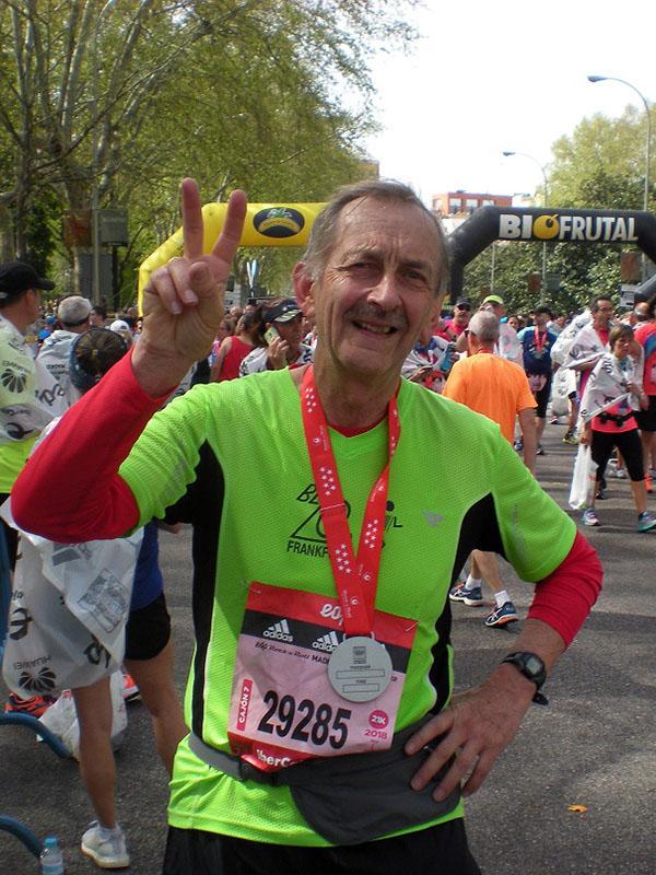 Alfred Traue noch dem Halbmarathon in Madrid
