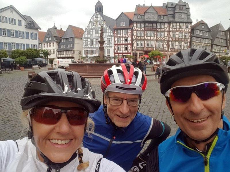 Ute, Dirk und Roberto auf dem Katharinenmarkt in Butzbach