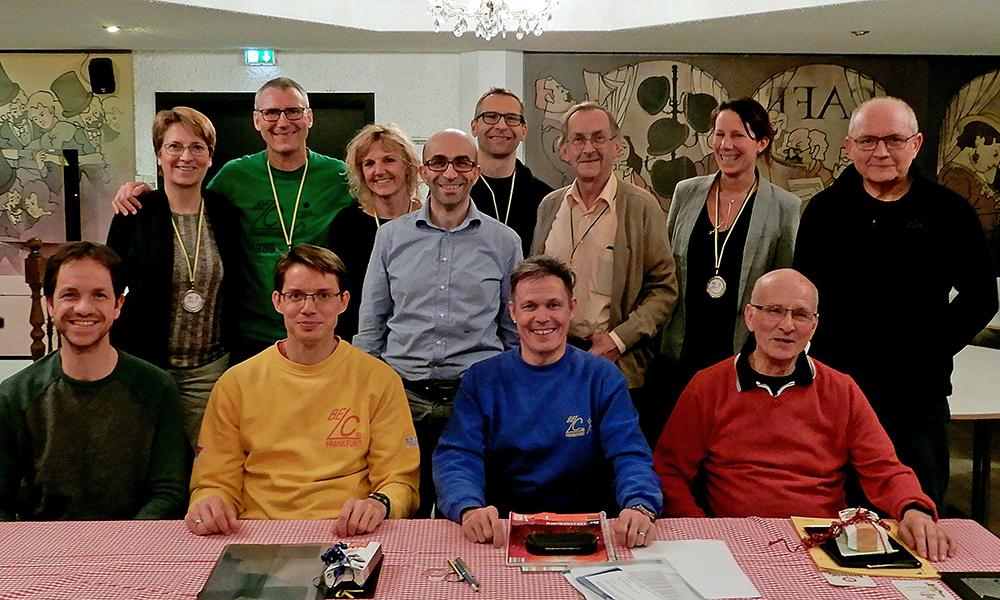 Siegerehrung der Vereinsmeister 2018, mit Mitgliedern vom alten und neuen Vorstand