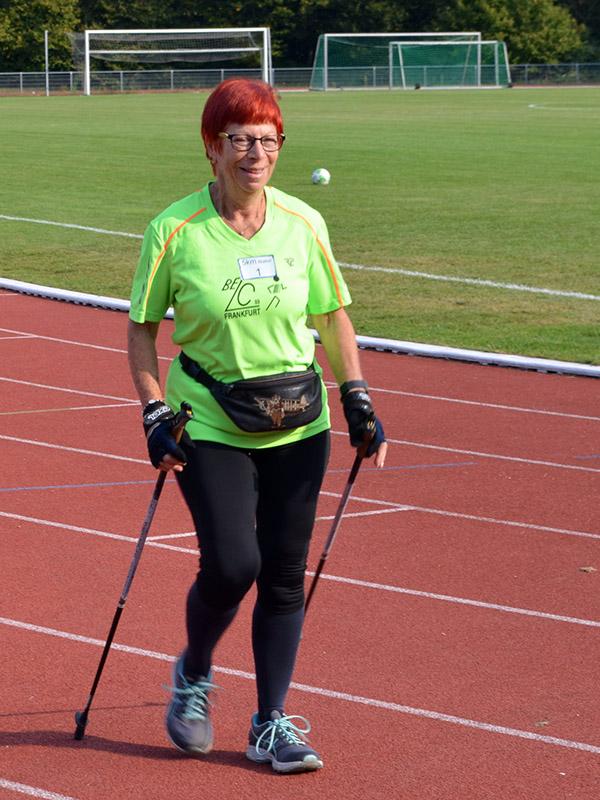 Hanna startete über 5 Kilometer Walking