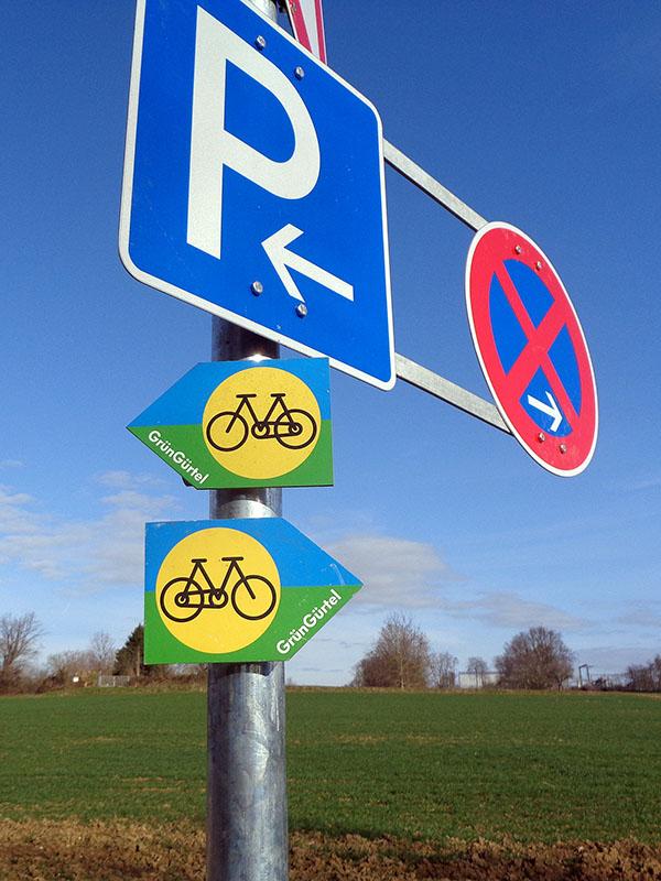 Die GrünGürtel-Strecke - heute mal nicht auf dem Rad