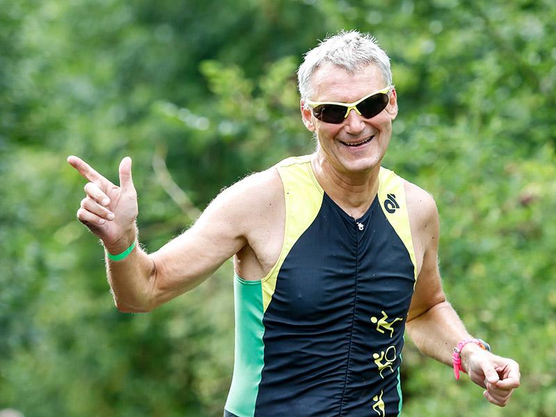 Martin bei abschließenden 10-km-Lauf