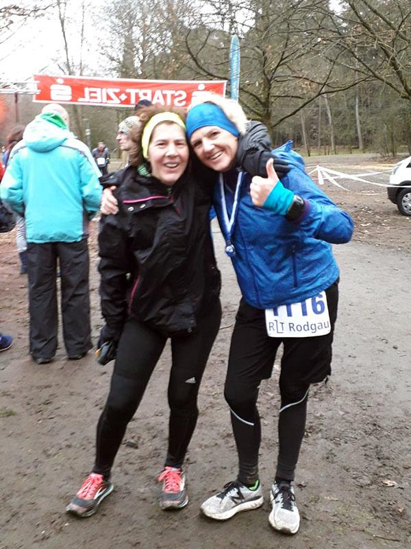 Ana und Ute überglücklich nach den 50 Kilometern