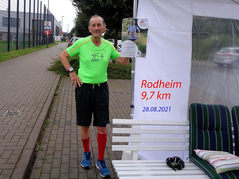 Alfred nach den knappen 10 km in Rodheim