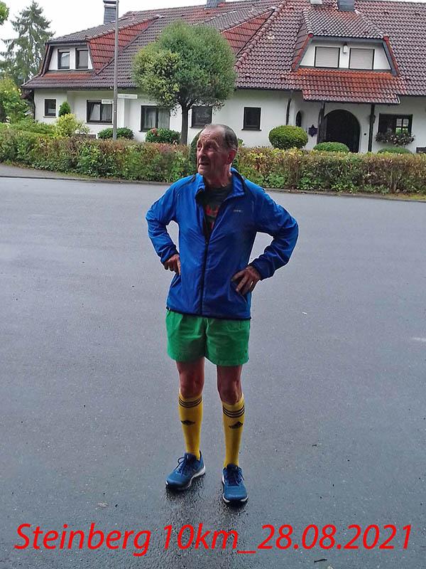 10 Kilometer im Regen